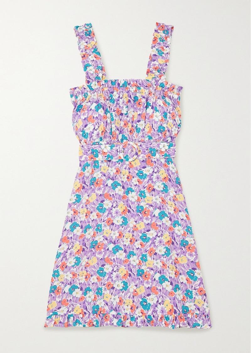 Mid Summer Floral-print Crepe Mini Dress