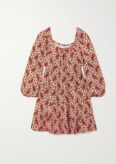 Faithfull the Brand Net Sustain Naline Tiered Paisley-print Crepe Mini Dress