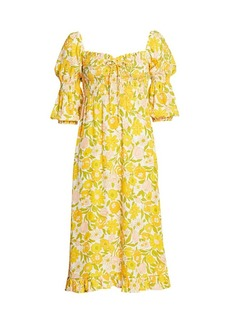 Faithfull the Brand Nora Floral Midi Dress