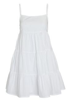 Faithfull the Brand Octavia Cotton Tie-Back Mini Dress