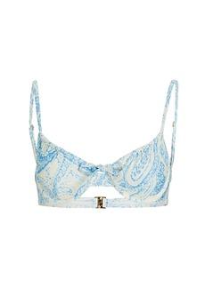 Faithfull the Brand Sariska Paisley Bikini Top
