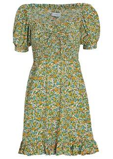 Faithfull the Brand Sasha Floral Smocked Mini Dress