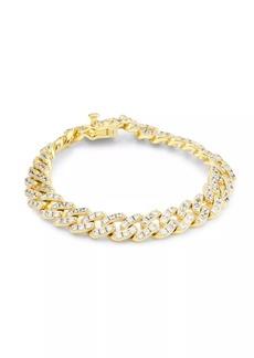 Fallon Armure Goldplated & Pavé Curb Swag Bracelet