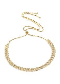 Fallon Armure Pavé Stone Curb Choker Necklace