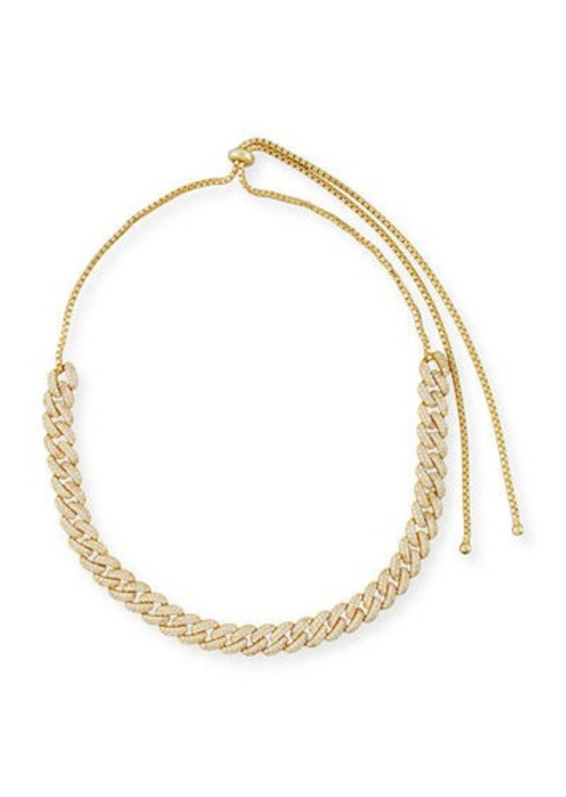 Fallon Armure Pave Crystal Curb Chain Necklace