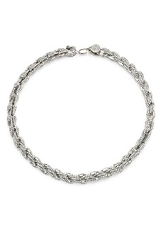 Fallon Armure Rope Chain Pavé Necklace