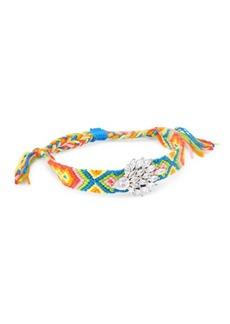 Fallon Embellished Woven Multicolor Friendship Bracelet