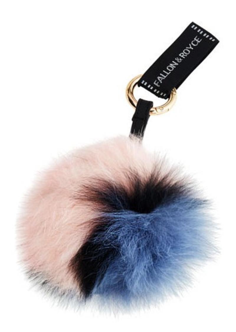 Fallon & Royce Fox-Fur Pom Pom Key Chain