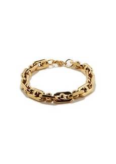 Fallon Bolt-chain 18kt gold-plated bracelet