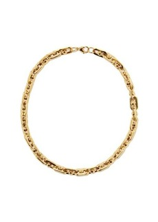 Fallon Bolt-chain 18kt gold-plated necklace