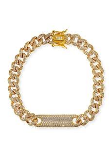Fallon Chain-Link Pave Plate Bracelet