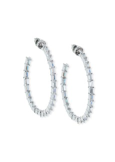 Fallon Crystal-Baguette Hoop Earrings