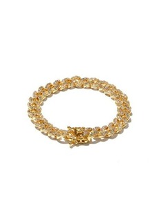 Fallon Curb-chain cubic-zirconia & gold-plated bracelet
