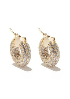 Fallon Doughnut zircon &14kt gold-plated earrings