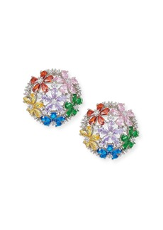 Fallon Florette Half-Button Earrings