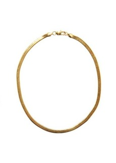 Fallon Hailey short 18kt gold-plated herringbone necklace
