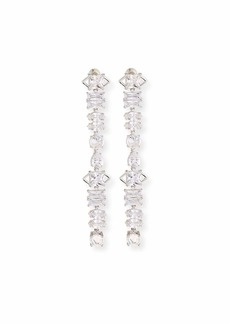 Fallon Jagged Edge Cubic Zirconia Drop Earrings