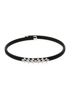 Fallon Monarch Leather Snap Choker Necklace