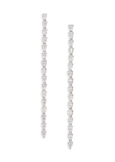 Fallon Monarch Marquis Crystal Linear Earrings