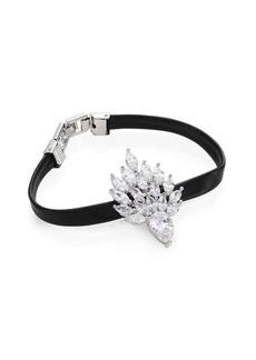 Fallon Monarch Mini Flame Crystal & Leather Bracelet