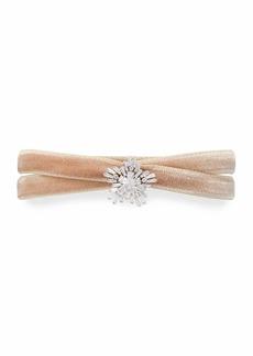 Fallon Monarch Mini Velvet Choker Necklace with Crystal Starburst