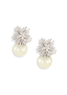 Fallon Monarch Starburst Faux-Pearl Drop Earrings