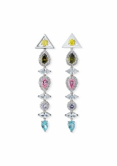 Fallon Pagoda Drop Earrings  Pastel Multicolor