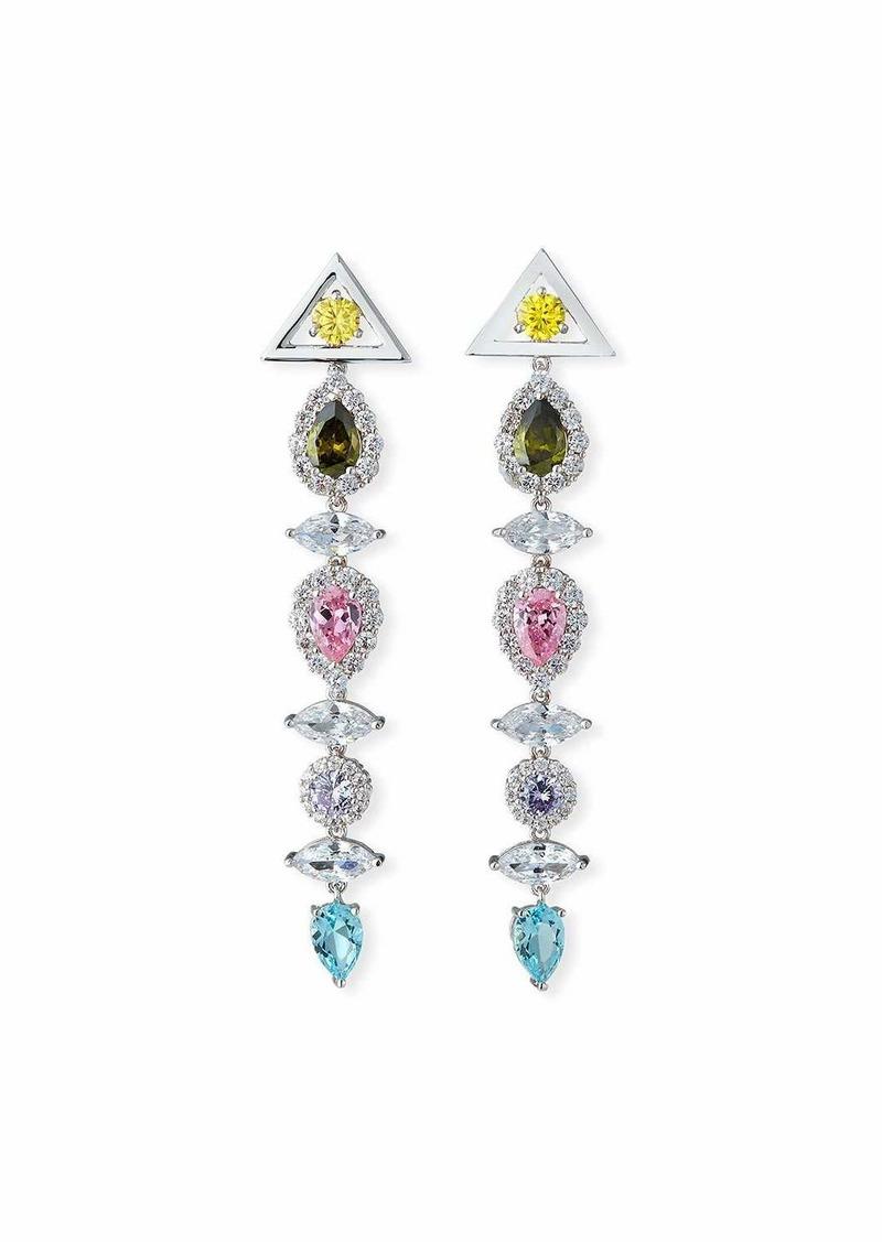 Fallon Pagoda Drop Earrings  Pastel Multicolor