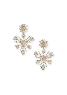 FALLON Snowflake Crystal Chandelier Earrings