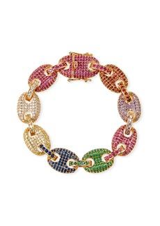 Fallon Toscano Pave-Link Bracelet  Multicolor