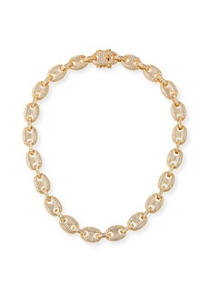 Fallon Toscano Pave-Link Necklace