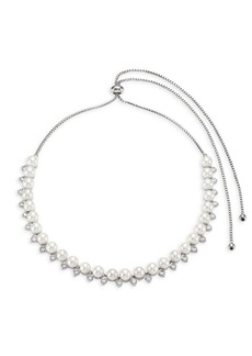 Fallon Faux-Pearl Toggle Choker