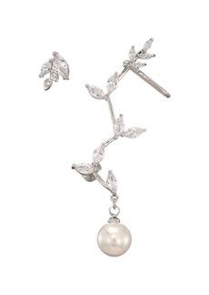 Fallon Faux Pearl Vine Cuff Earrings