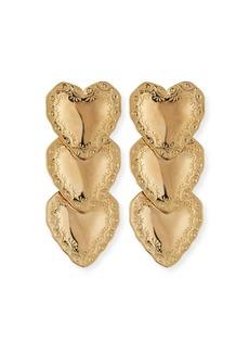 Fallon Heart Drop Earrings  Gold