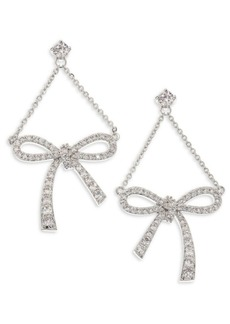 Fallon Monarch Draped Bow Earrings