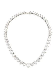 Fallon Monarch Heart Solitaire Cubic Zirconia Collar Necklace