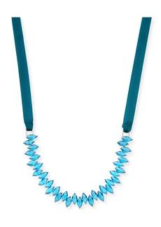 Fallon Monarch Crystal Jagged Edge Choker Necklace
