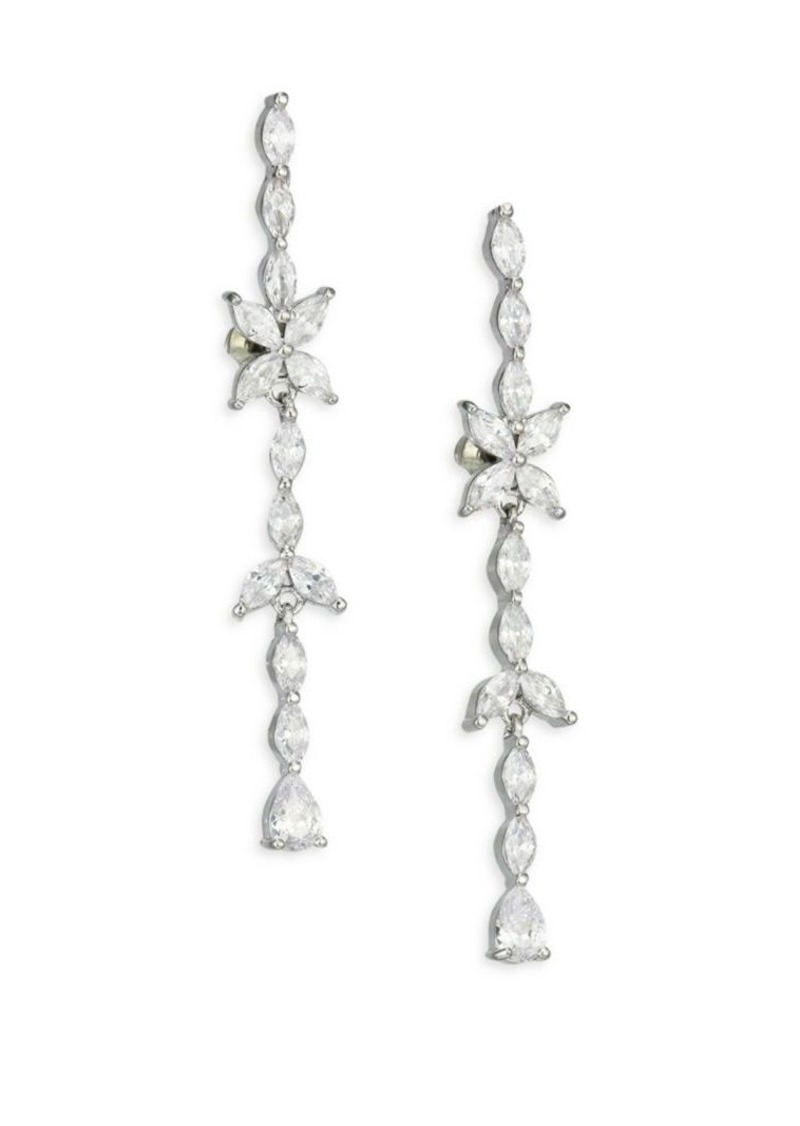 Fallon Monarch Marquis Crystal Matchstick Drop Earrings