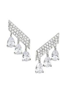 Fallon Monarch Mini Pavé Bar Earrings