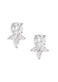Fallon Monarch Pointed Cluster Stud Earrings