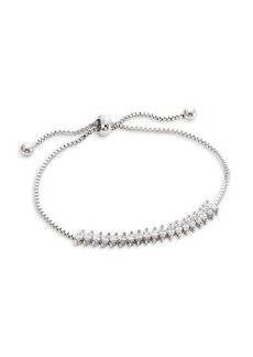 Fallon Monarch Silvertone Toggle Bracelet