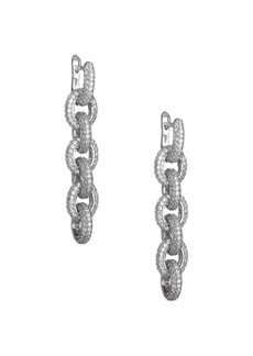 Fallon Pavé Chain Link Drop Earrings