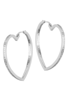 Fallon Pavé Heart Hoop Earrings