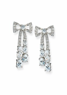 Fallon Rigid Crystal Bow Earrings