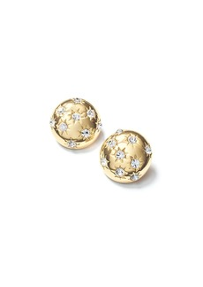 Fallon Starburst Deco Button Earrings