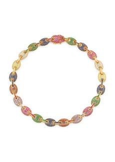 Fallon Toscano Multicolor Crystal Pavé Link Necklace