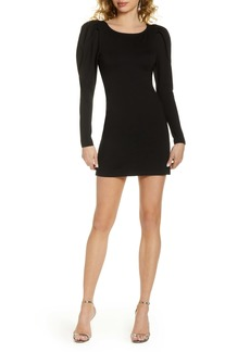 Fame and Partners Fame & Partners Puff Shoulder Long Sleeve Minidress
