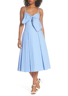 Fame and Partners Becky Bow Front Tea Length Dress