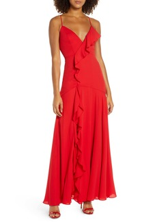 Fame and Partners Callais Ruffle Gown
