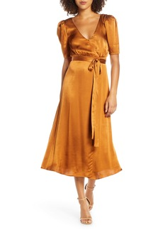Fame and Partners Francesca Wrap Midi Dress